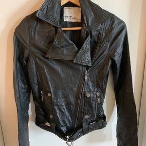 TRF ZARA LEATHER MOTO JACKET